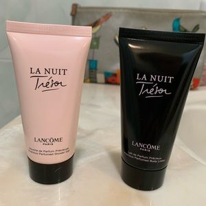 Lancôme perfumed body wash and lotion.